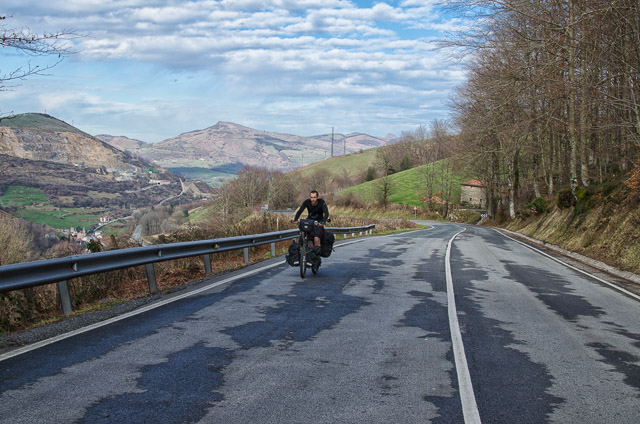 Pedaling up the Pyrenees