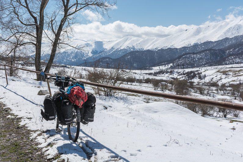 Armenijas kalni ziema