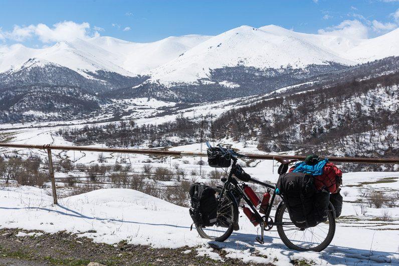 ziema un kalni Armenija