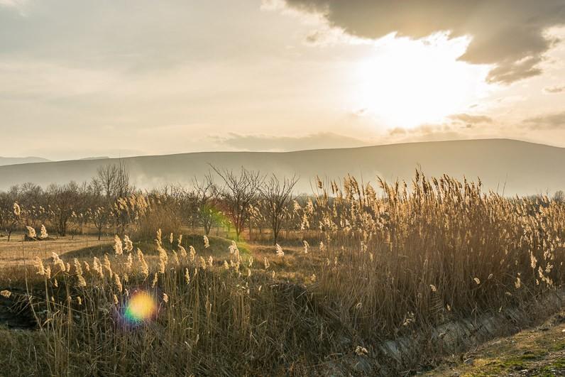 Saulriets pār kalniem Gruzijā